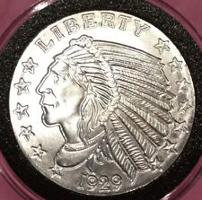 1929 Indian Head Inverse Impression 1 Troy Oz .999 Fine Silver Round Coin Medal