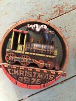 Hallmark Nostalgia Ornament Locomotive 1976 Tree-Trimmer Vintage Train