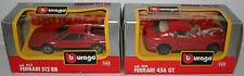 CARS : FERRARI 456 GT & FERRARI 512 BB 1/43 SCALE MODELS BY BURAGO (DT) 174