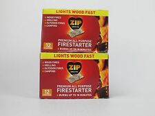 24 - Zip Premium All Purpose Wrapped Fire Starter BBQ Wood Stoves Fireplace