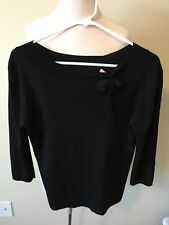 (164) Women's Joseph A Black XL 3/4 Sleeve Dress Top