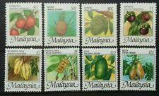 MALAYSIA FRUITS 1986 SG 344 - 351 MNH OG