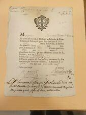 PAVEUR DE LA VILLE DE MARSEILLE AVIS DE PAIEMENT DE 4 LIVRES 1749