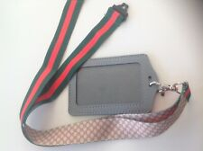 Gucci pattern new lanyard with ID card holder wallet men women  keyring