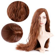 Creamily Women Natural Brown Ombre Hairpiece Curly Wavy Long Synthetic Hair Wigs