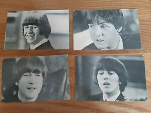 Beatles 4 x Promotional Postcards from 1964 Fropax Eskimo Food Ltd