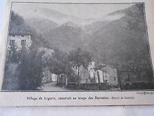 Village de Ligurie construit au temps des Sarrasins Image Print 1921