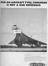 BRITISH AIRCRAFT CORP CONCORDE S.S.T. EQUIPPED KLEBER TYRE NOT BAD REFERENCE AD