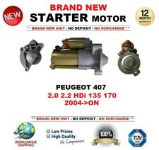 FOR PEUGEOT 407 2.0 2.2 HDi 135 170 2004-ON STARTER MOTOR 1.7kW 13 Teeth