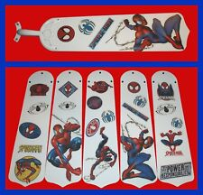 MARVEL SPIDER-MAN ASSORTED POSE/LOGOS CEILING FAN REPLACEMENTS BLADES (5 BLADES)