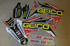 GEICO TEAM GRAPHICS & BACKGROUNDS  HONDA  2009-2012 CRF450R &  2010-13 CRF250R