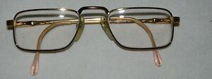 Luxottica Eyeglasses Scott Frames Gold Electroplate Italy 145