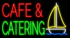 "New Cafe and Catering Beer Man Cave Neon Light Sign 32""x24"""