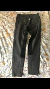 BNWOT Cavallo Candy Ladies Breeches 28 Grey with Full Black seat