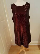 Alice & You, Ladies Size 18, Burgundy Sequined Sleeveless Dress BNWT