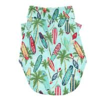 Doggie Design Hawaiian Camp Dog Shirt - Surfboards And Palms Sizes XXS-2XL