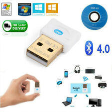 Mini White Bluetooth USB Wireless V4.0 Dongle Adapter For PC Laptop Computer AW