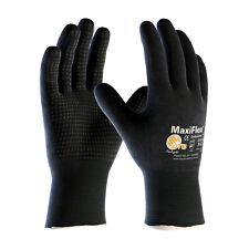 Maxiflex Endurance Nitrile Coated Nylon Lycra Work Gloves Black 3 Pair Medium