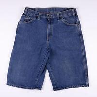 Vintage DICKIES Loose Fit Men's Blue Casual Denim Shorts W32 L24