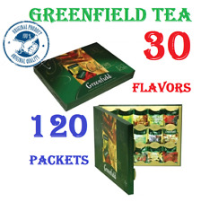 GREENFIELD TEA 30 flavors -- 120 packets GIFT  packaging -- black, green, white