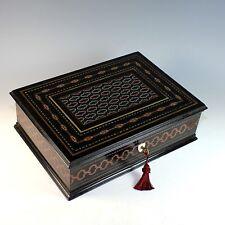Napoleon III Second Empire Boulle Marquetry Ebonized Inlaid Box