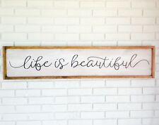 Life Is Beautiful, Beautiful Life Sign, Life Is Beautiful Sign, Framed Wood Sign