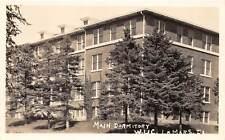 D5/ Lemars Iowa Ia Real Photo RPPC Postcard c1930s Main Dormitory W. U. C.