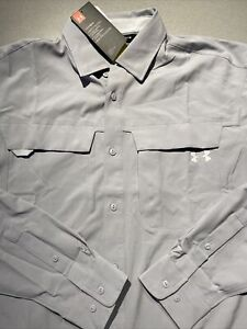 Mens Size Medium Under Armour Tide Chaser Long Sleeve Shirt Gray 1341689-011