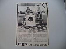 advertising Pubblicità 1967 LAVATRICE REX G 554
