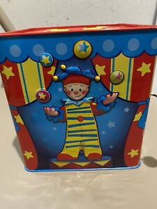 Schylling Tin Toy Jack-In-The-Box Musical Children toy clown Silly Circus