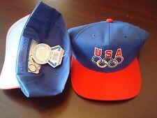 USA OLYMPICS OLYMPIC RINGS DREAM ATLANTA SCRIPT  VINTAGE 90'S HAT CAP  SNAPBACK