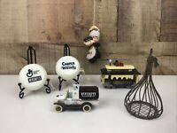 Vintage Hershey's Chocolate Advertising Lot Ornaments Yo-yo Metal Truck