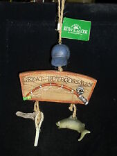 The Great Outdoorsman Cap & Net & Fish Christmas Ornament by Kurt Adler Retired