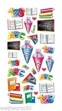 Schulanfang Softy Design Sticker Scrapbooking Junge Mädchen Einschulung Schule