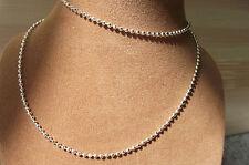UK Jewellery 16 inch Silver  Ball Bead Necklace Pendant / Locket Chain