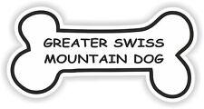 Greater Swiss Mountain Dog Bone pegatina nombre de raza tazón Cachorro Mascota Etiqueta del vinilo