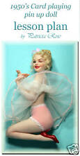 Card pin up how to sculpt lesson by Patricia Rose