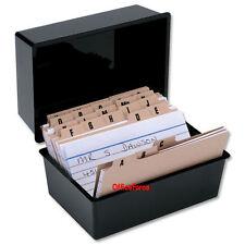 RECORD CARD BOX + 300 CARDS + INDEX ~ 5x3~ 127x76mm SET ~  BLACK © RC53