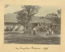 My Bungalow.  Belgaum,  India.  Albumen Prints 1895