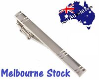 Men Silver Tie Clip Pin Stainless Steel Clasp Bar Office Wedding Christmas gift