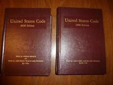 US Code 2006 Edition 2 Volumes.  Title 39 Postal Service - Title 42 H&W S. 1394
