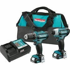 Cordless Combo Kit Power Tool 12V Max Heavy Duty Lithium Ion Driver Drill 2 Tool