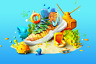 Nike Kyrie 5 Spongebob Pack Pineapple House Kids TD PS GS Size 4C-7Y Ship Now