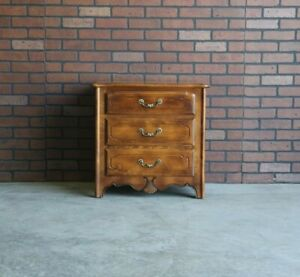 Nightstand ~ Bedside Chest ~Country French Night Table by Ethan Allen