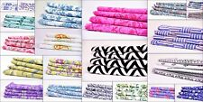 100% Cotton Print Fabric Voile/Lawn Block Print Dressmaking Crafts 200 Meter Lot