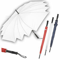 80cm Bridal Umbrella Black Grip Handle Golf Fishing Unisex Men Women Rain Brolly