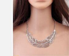 Women's Hot Collier Femme Collar Chain Choker Zinc Alloy Big Leaf Pendant