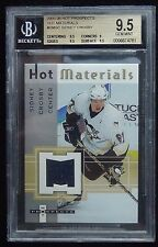 2005-06 SIDNEY CROSBY HOT PROSPECTS MATERIALS ROOKIE YEAR JERSEY BGS 9.5 POP 14