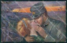Militari WWI Propaganda Soldato Sidoli cartolina XF0466
