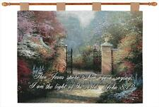 The Victorian Garden Tapestry Wall Hanging w/Verse ~ Artist, Thomas Kinkade
